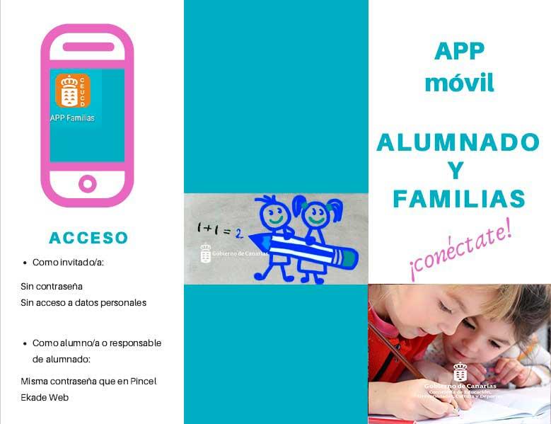 APP Pincel Alumnado y Familias para dispositivos móviles.
